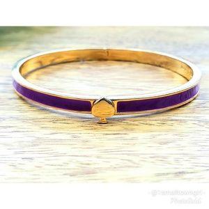 "Kate Spade NY purple enamel hinged bangle 8"""